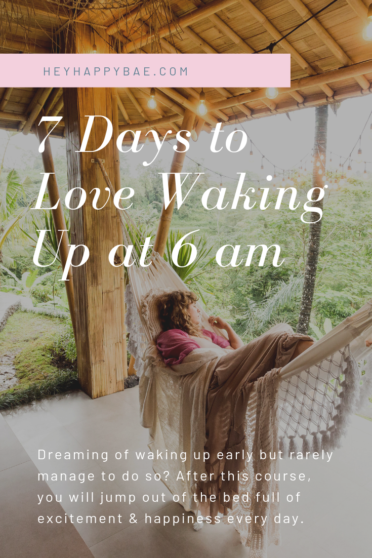 Online Courses for Women: 7 Days to Love Waking Up at 6 am